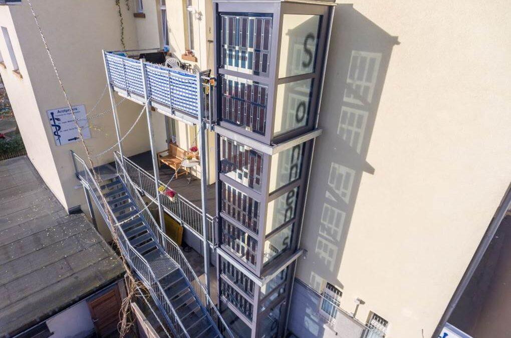Marburg, Germany  Glass facade