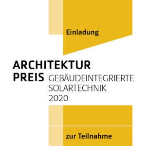 Signet des Architekturpreis Gebäudeintegrierte Solartechnik 2020
