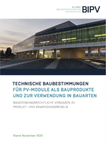 Technische Baubestimmungen für PV-Module als Bauprodukte